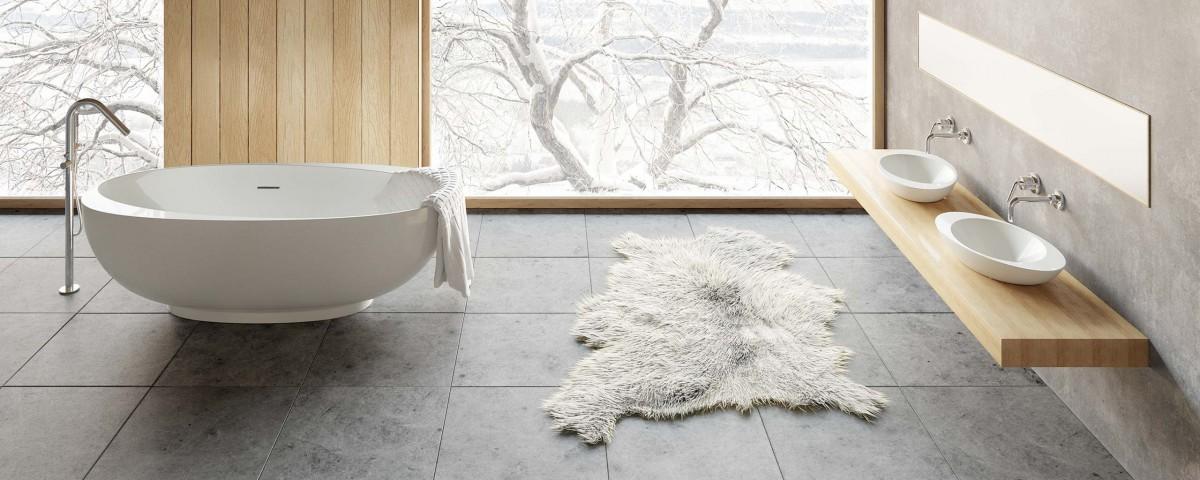 wanna łazienkowa nowoczesna ekspozycja