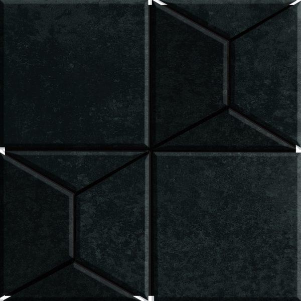 Fanal Mosaico Pyramid Black 30x30