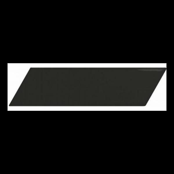 Equipe Chevron Wall Black Matt Left 18,6x5,2