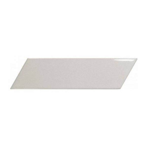 Equipe Chevron Wall Light Grey Left 18,6x5,2